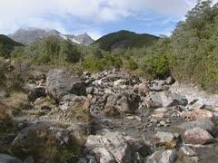 Okahune mountain stream in Tongariro National Park Stock Footage