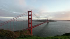 Golden Gate Bridge at Sunset - stock footage
