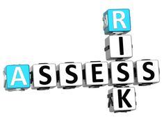 3d assess risk crossword - stock illustration