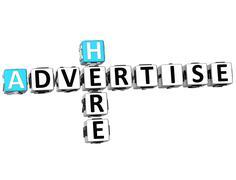 Stock Illustration of 3d advertise here crossword