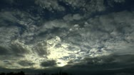 Sweeping Clouds Time Lapse Stock Footage
