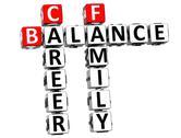 3d balance life family crossword Stock Illustration