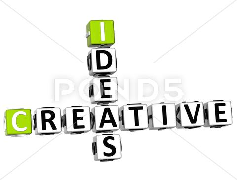 Stock Illustration of 3d creative ideas crossword