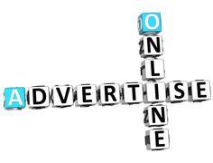 Stock Illustration of 3d advertise online crossword