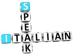 3d speak italian crossword - stock illustration