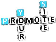 3d promote your site crossword Stock Illustration