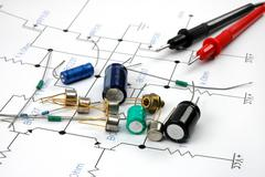 Electronic components Stock Photos