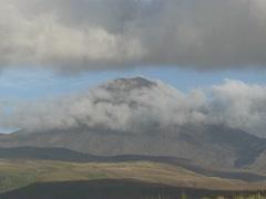 Volcano, conical mount Ngauruhoe with cloud Stock Footage