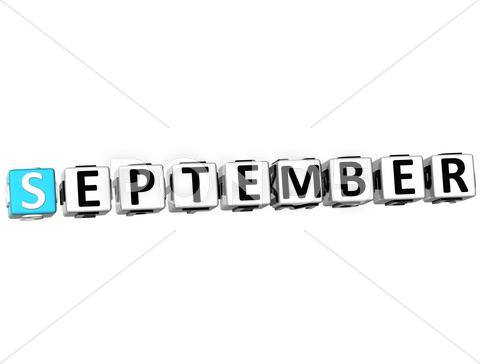 Stock Illustration of 3d september block text