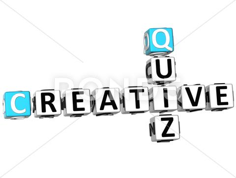Stock Illustration of 3d creative quiz crossword