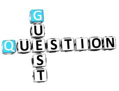 Stock Illustration of 3d question guest crossword