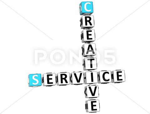 Stock Illustration of 3d creative service crossword
