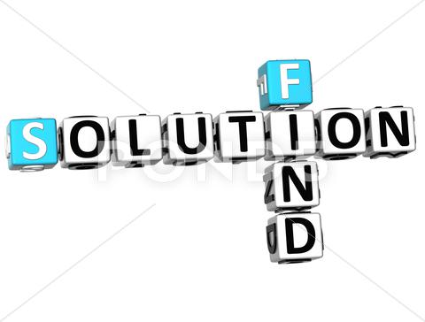 Stock Illustration of 3d find solution crossword