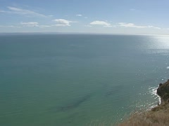 Pacific Ocean at Cape Kidnappers, Hawke Bay, New Zealand Stock Footage
