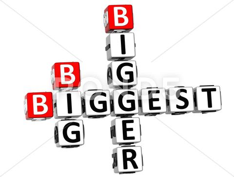 Stock Illustration of 3d biggest bigeer big crossword