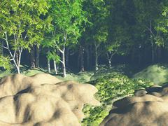 green forest - stock illustration
