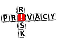 3d privacy risk crossword Stock Illustration
