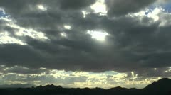 Mountain Clouds Swirling Sun Time Lapse Stock Footage
