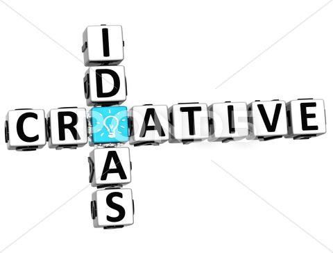 Stock Illustration of 3d creative idea crossword