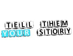 3d tell them your story Stock Illustration