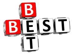 3d best bet crossword - stock illustration