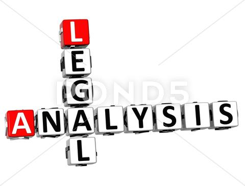 Stock Illustration of 3d legal social analysis crossword cube words