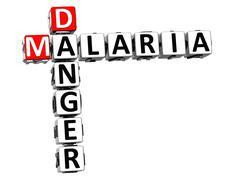 3d malaria danger risk crossword text Stock Illustration