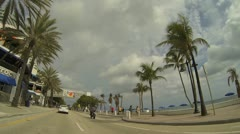 Stock Video Footage of Fort Lauderdale Beach A1A