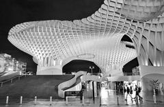 metropol parasol in plaza de la encarnacion in Seville - stock photo