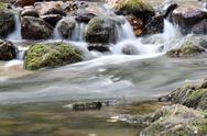 Creek with rocks spring scene.JPG Stock Photos