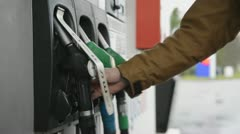 Diesel pump Stock Footage