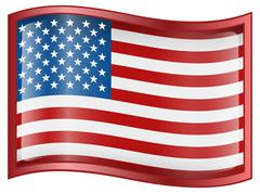 Usa flag icon Stock Illustration