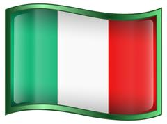 italy flag icon, isolated on white background - stock illustration