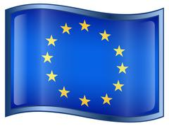 europe flag icon - stock illustration