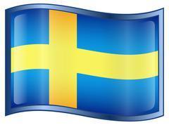 Ruotsi lippu kuvake Piirros