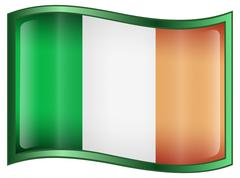 Ireland flag icon Stock Illustration