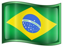 Stock Illustration of brazil flag icon