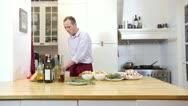 Stock Video Footage of Preparing dinner
