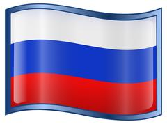 russia flag icon - stock illustration