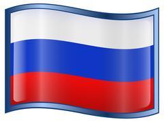 Russia flag icon Stock Illustration