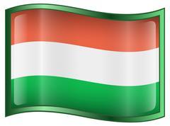 Hungary flag icon Stock Illustration