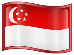 Singapore flag icon Stock Illustration