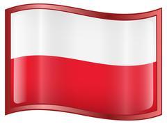 Poland flag icon Stock Illustration