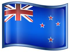 new zealand flag icon - stock illustration