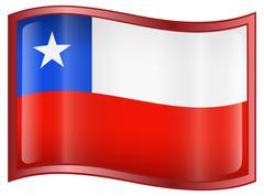 Chile flag icon Stock Illustration