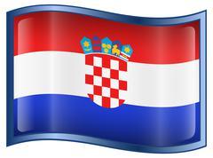 Croatia flag icon Stock Illustration