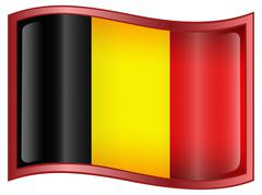 Belgium flag icon Stock Illustration