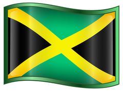 Stock Illustration of jamaica flag icon