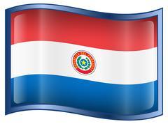 Paraguay flag icon Stock Illustration