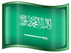 Saudi arabia flag icon Stock Illustration